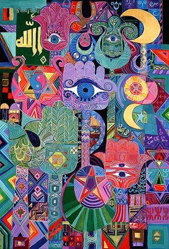 orientalische-gemaelde - Magical Symbols, 1992 - Shawa, Laila