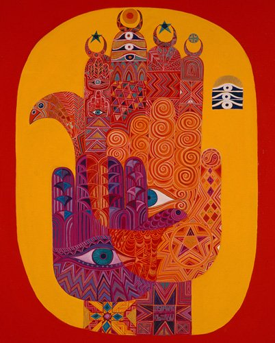 orientalische-gemaelde - Amulets, 1992 - Shawa, Laila