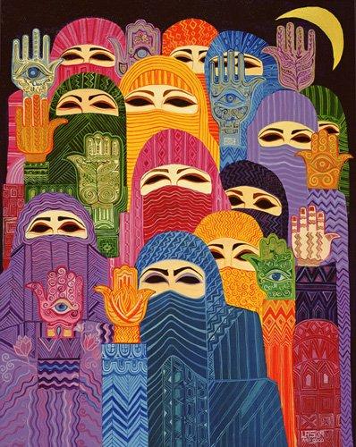 orientalische-gemaelde - The Hands of Fatima, 1989 - Shawa, Laila