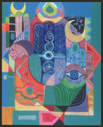 orientalische-gemaelde - Hands as Amulets I, 1992 - Shawa, Laila