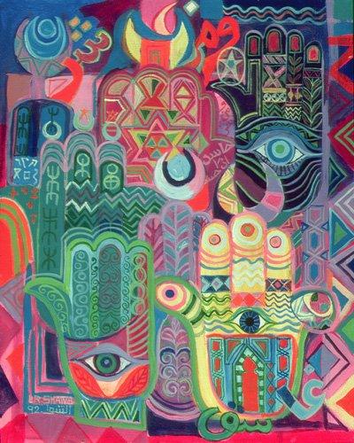 orientalische-gemaelde - Hands as Amulets II, 1992 - Shawa, Laila