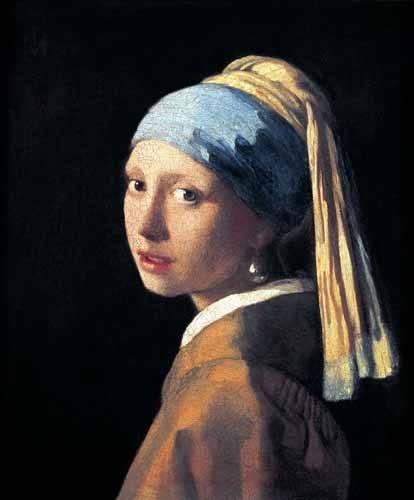 portraetgemaelde - Jeune fille à la perle - Vermeer, Johannes
