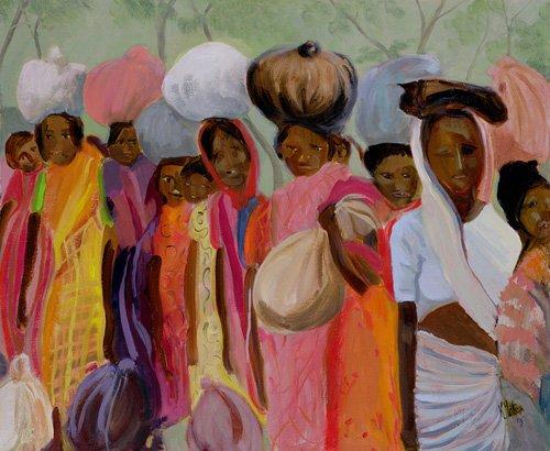 orientalische-gemaelde - Weighing the Tea (oil on canvas) - Yates, Kate