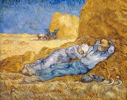 portraetgemaelde - Mittagsrast, 1890 - Van Gogh, Vincent