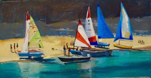 seelandschaft - Salcombe Smalls Cove Dinghies - Wright, Jennifer