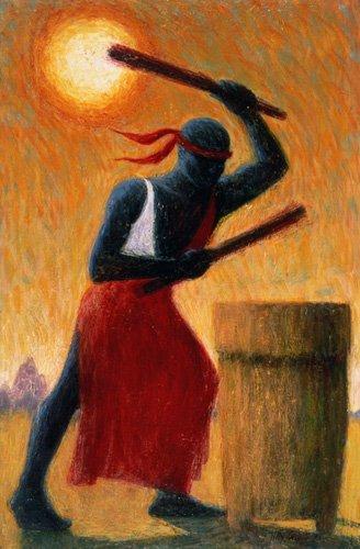 orientalische-gemaelde - The Drummer, 1993 (oil on canvas) - Willis, Tilly