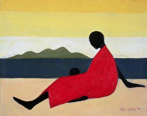 orientalische-gemaelde - Mother and Child, 1991 (oil on canvas) - Willis, Tilly