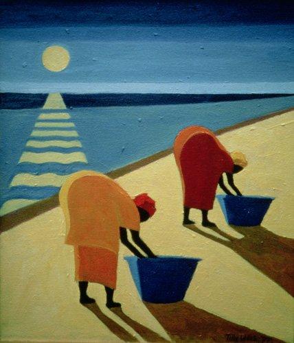 orientalische-gemaelde - Beach Bums, 1997 (oil on canvas) - Willis, Tilly