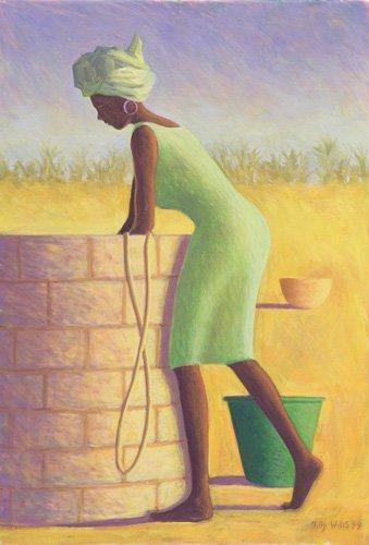 orientalische-gemaelde - Water from the Well, 1999 (oil on canvas) - Willis, Tilly