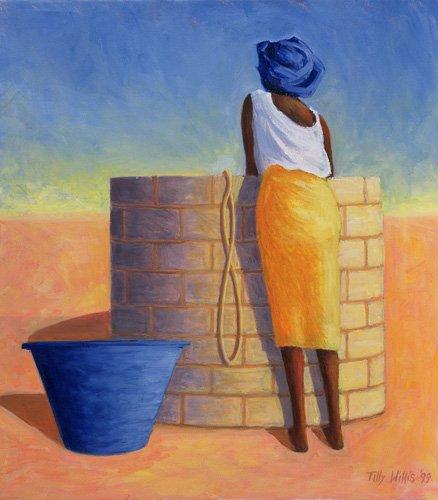 orientalische-gemaelde - Well Woman, 1999 (oil on canvas) - Willis, Tilly