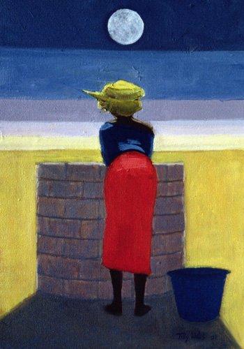 orientalische-gemaelde - Moonlit Evening, 2001 (oil on canvas) - Willis, Tilly