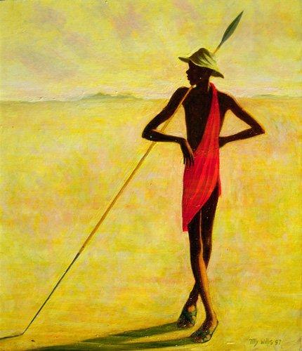 orientalische-gemaelde - Watching, 1992 (oil on canvas) - Willis, Tilly
