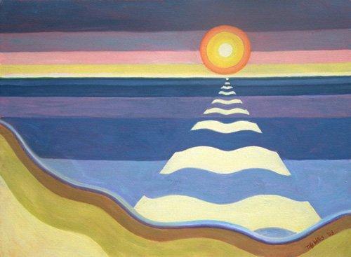 orientalische-gemaelde - Evening Sun, 2003 (oil on canvas) - Willis, Tilly