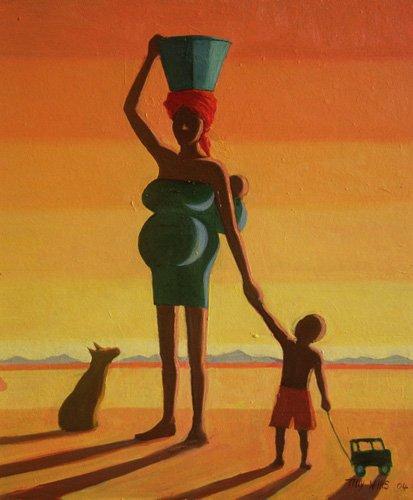 orientalische-gemaelde - Matriarch, 2004 (oil on canvas) - Willis, Tilly