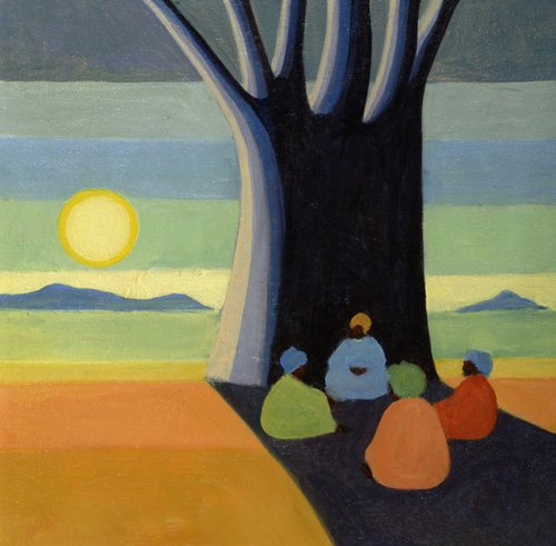 orientalische-gemaelde - The Meeting, 2005 (oil on canvas) - Willis, Tilly