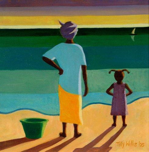 orientalische-gemaelde - Waiting, 2005 (oil on canvas) - Willis, Tilly