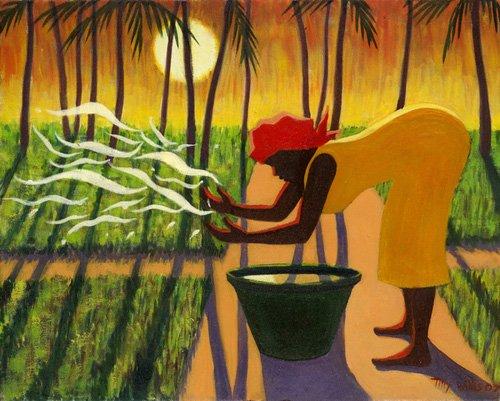 orientalische-gemaelde - The Spirit Garden, 2007 (oil on canvas) - Willis, Tilly