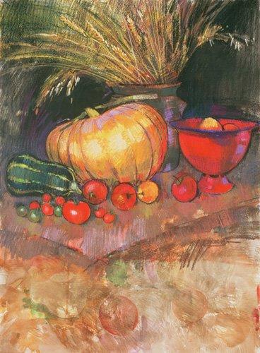 stillleben-gemaelde - Harvest (pastel on paper) - Spencer, Claire