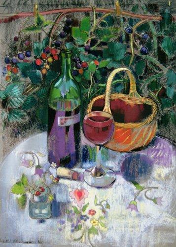 stillleben-gemaelde - Last of the Summer Wine (pastel on paper) - Spencer, Claire