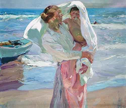 portraetgemaelde - À la sortie de la mer, 1915 - Sorolla, Joaquin