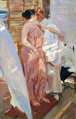 portraetgemaelde - La robe rose, 1916 - Sorolla, Joaquin