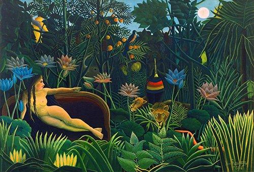 landschaften-gemaelde - le rêve - Rousseau, Henri
