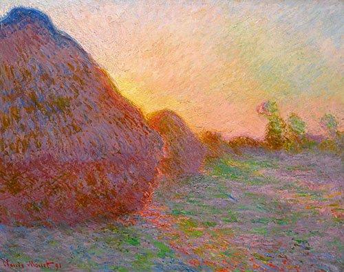 landschaften-gemaelde - Getreideschober (Meules), 1891 - Monet, Claude