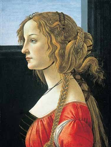 portraetgemaelde - Joven mujer - Botticelli, Alessandro
