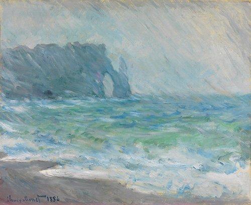 bilder-fuer-ein-esszimmer - Regnvær, Etretat - Monet, Claude