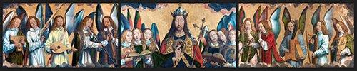 religioese-gemaelde - Christ avec des musiciens Anges - Memling, Hans