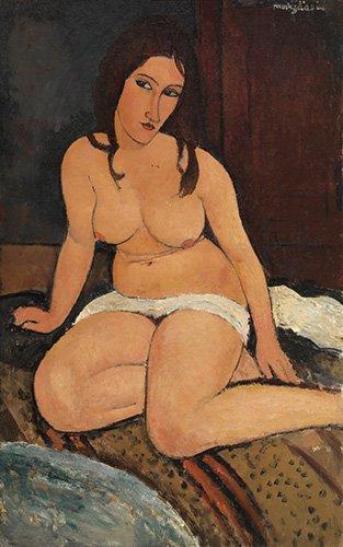 kuenstlerische-aktbilder - Nu assis - Modigliani, Amedeo