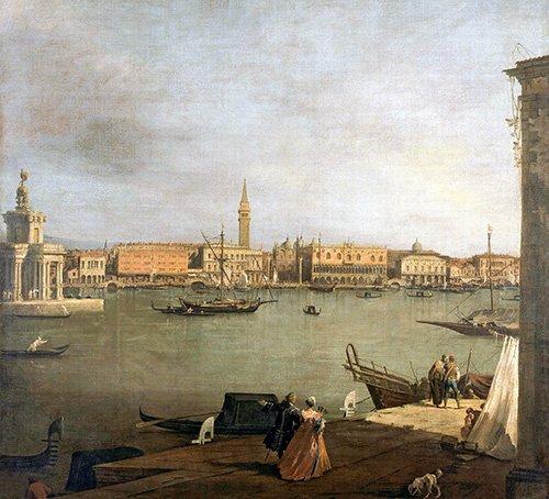 landschaften-gemaelde - Dársena de San Marcos desde la Giudeca - Canaletto, Giovanni A. Canal