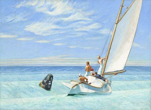 seelandschaft - Ground Swell, 1939 - Hopper, Edward