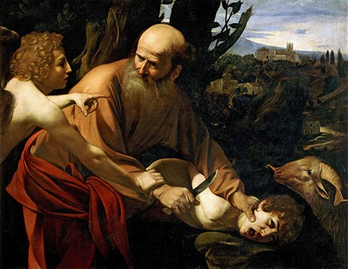 religioese-gemaelde - Le Sacrifice d'Isaac- Caravage - Caravaggio, Michelangelo M.