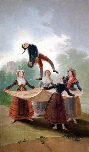 portraetgemaelde - El Pelele (The Puppet) 1791-2 (oil on canvas). - Goya y Lucientes, Francisco de