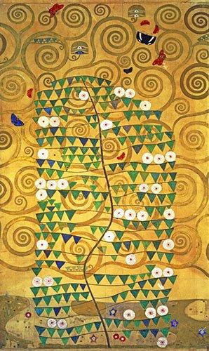 abstrakte-gemaelde - Baum des Lebens (Stoclet Fries) - Klimt, Gustav