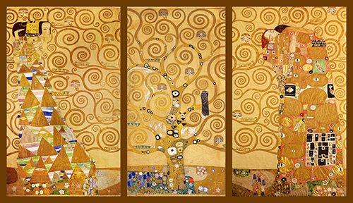 bilder-fuer-ein-wohnzimmer - Der Baum des Lebens (Triptychon) - Klimt, Gustav