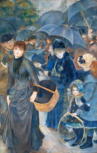 portraetgemaelde - Les parapluies, (1881-86) - Renoir, Pierre Auguste