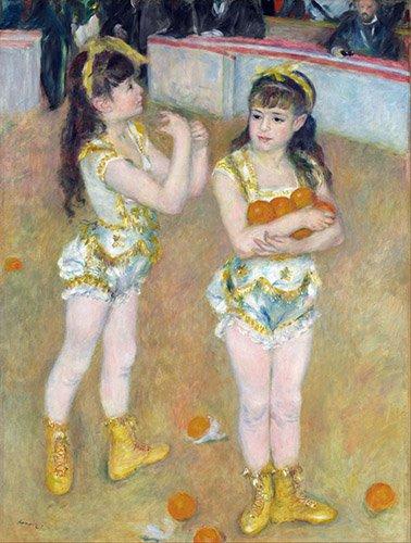 portraetgemaelde - Acrobates au Cirque Fernando également connu sous le nom de Francisca et Angelina Wartenberg, 1879 - Renoir, Pierre Auguste