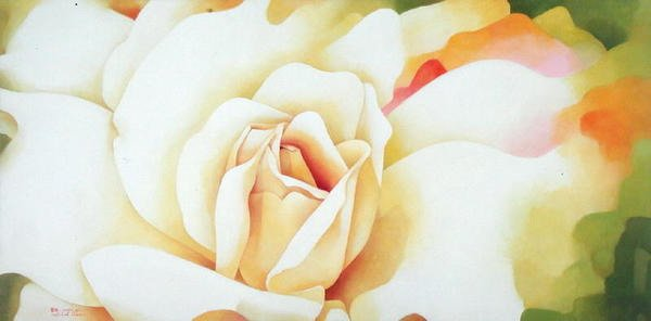 blumen-und-pflanzen - The Rose, 1997 - Sim, Myung-Bo