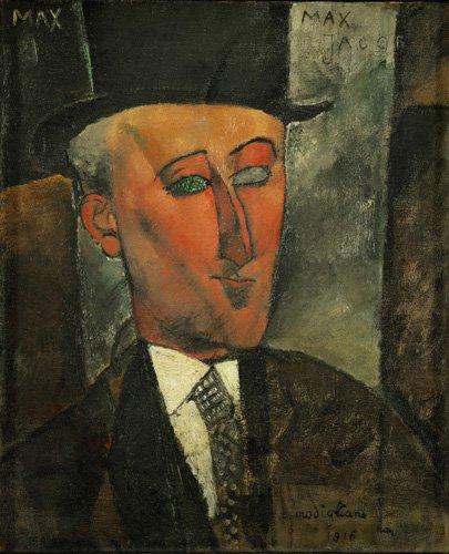 portraetgemaelde - Portrait de Max Jacob - Modigliani, Amedeo