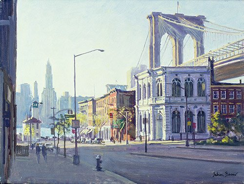 moderne-gemaelde - Brooklyn Bridge, New York (oil on canvas) - Barrow, Julian