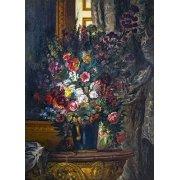 Blumenvase an der Konsole