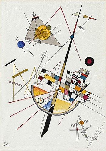 abstrakte-gemaelde - weiche Spannung-no-85 - Kandinsky, Wassily