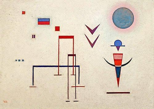 abstrakte-gemaelde - Scherzgeräusche,1929 - Kandinsky, Wassily