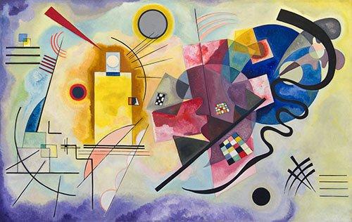 abstrakte-gemaelde - gelb rot blau - Kandinsky, Wassily