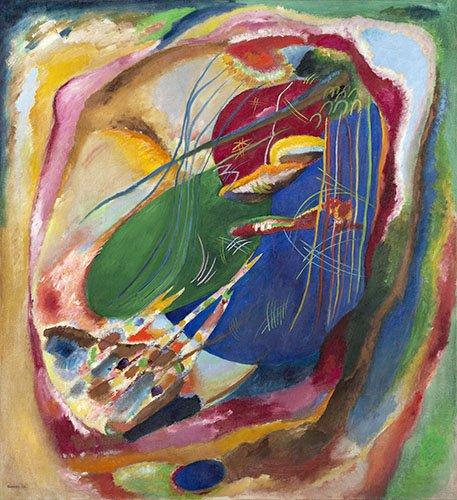 abstrakte-gemaelde - Bild mit drei Flecken, Nr. 196, 1914 - Kandinsky, Wassily