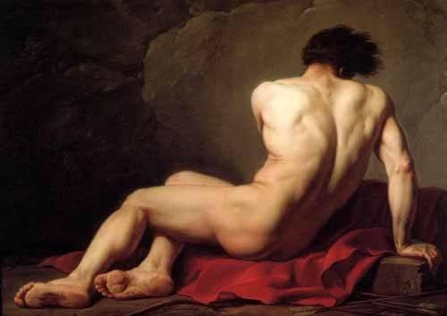 portraetgemaelde - Homme nu, connu sous le nom de Patrocle - David, Jacques Louis
