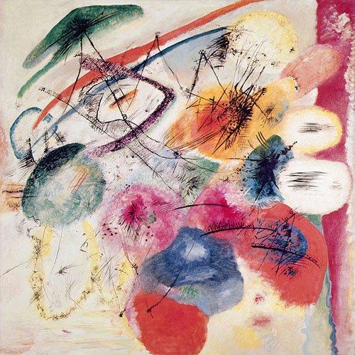 abstrakte-gemaelde - Schwarze Linien, Dezember 1913 - Kandinsky, Wassily