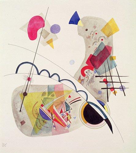 abstrakte-gemaelde - Grave Forme, 1922 - Kandinsky, Wassily
